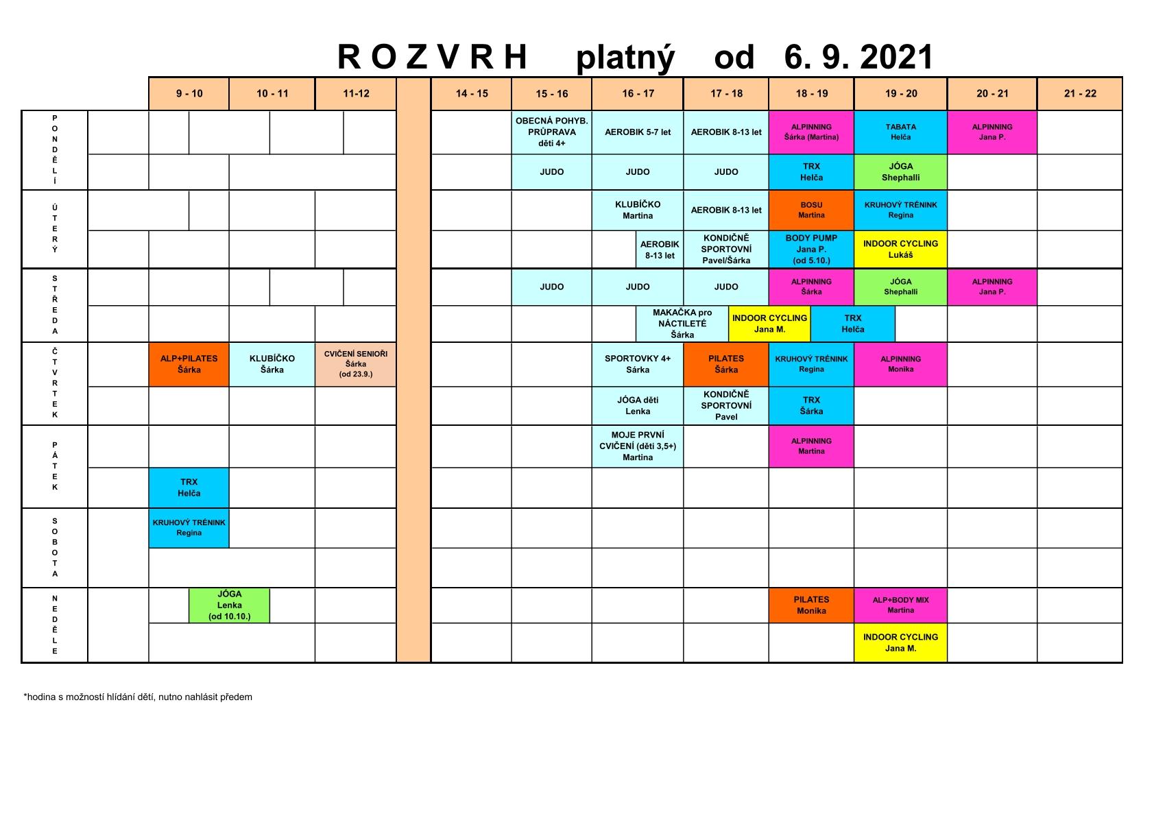 Rozvrh ROZVRH 2021 22 2